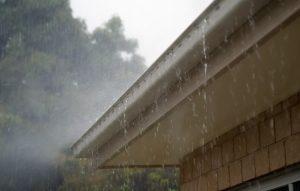 Leaky Gutter In a Rainstorm