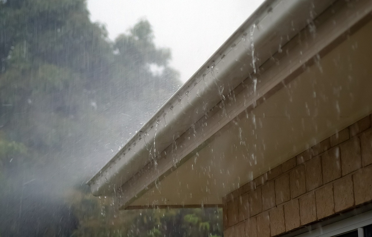 Leaky Gutter In a Rainstorm