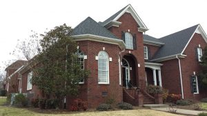 brick home with new roof, Dowell Roofing, Murfreesboro Roofers