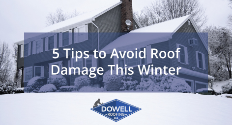 snow-covered house, Dowell Roofing, Murfreesboro Roofers
