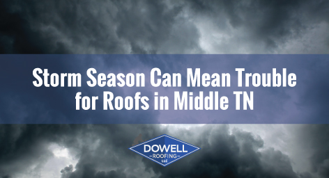storm clouds, Dowell Roofing, Murfreesboro Roofers