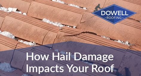 hail-damaged roof, Dowell Roofing, Murfreesboro Roofers